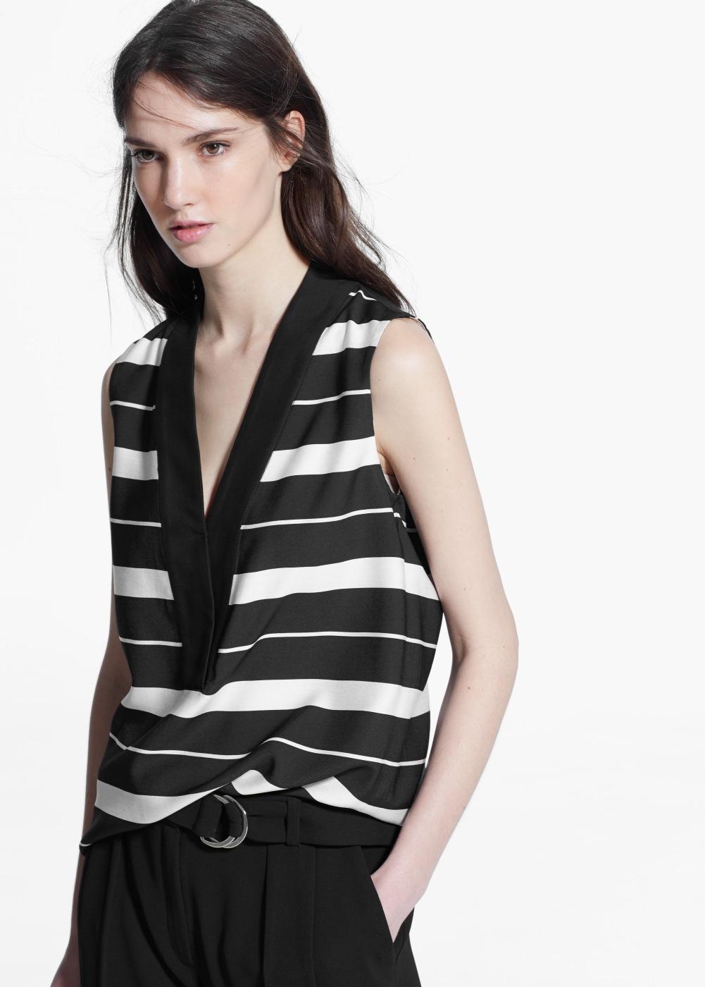 Flowy Striped Blouse , $39.99