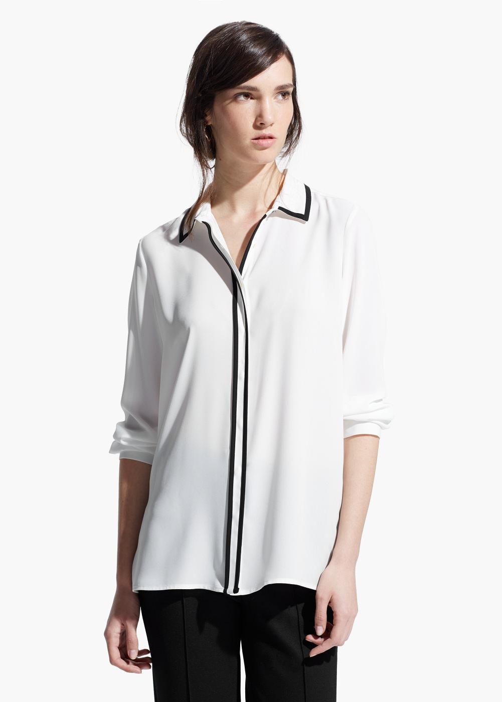 Contrast Trim Shirt , $59.99