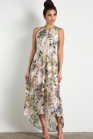 Ina Laceback Floral Maxi, $66.99