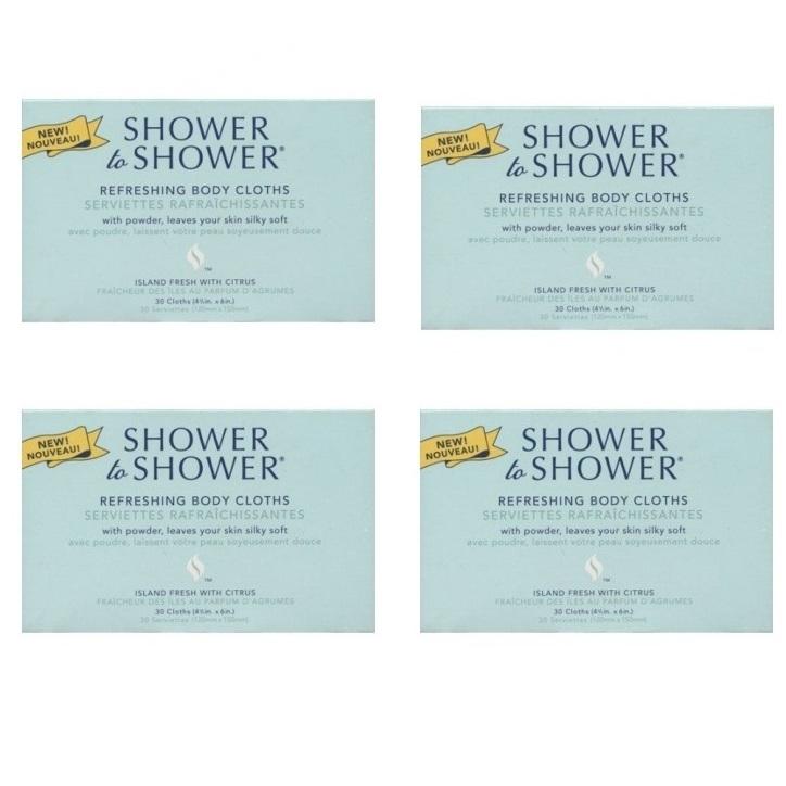 Shower to Shower  (4 packs of 30 ea)