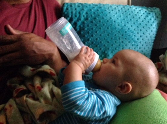 I nursed as long as I could, but my son  drank formula  as well.