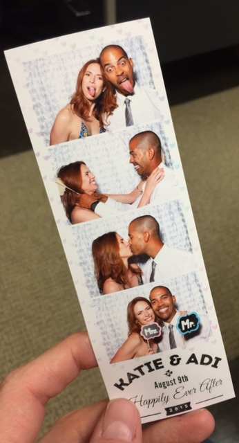 When there's a photo booth, you gotta take photos.