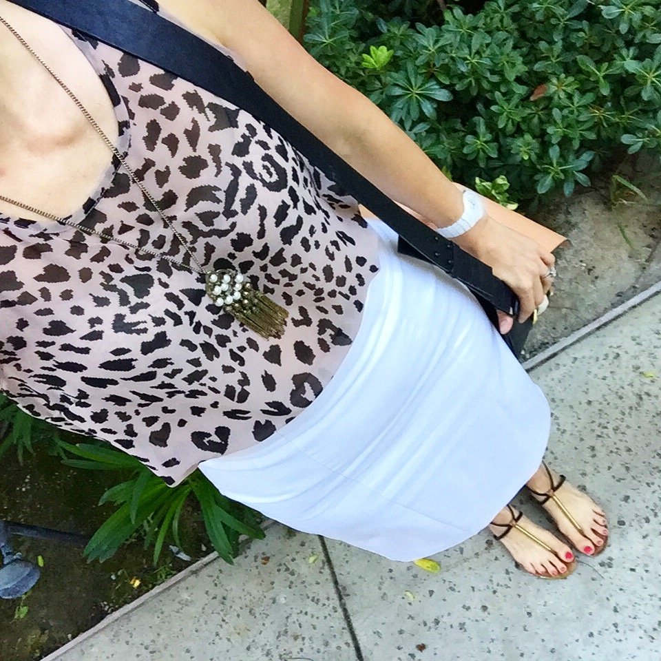 More neutrals - with one of my favorite F21 purchases (years ago) leopard top.