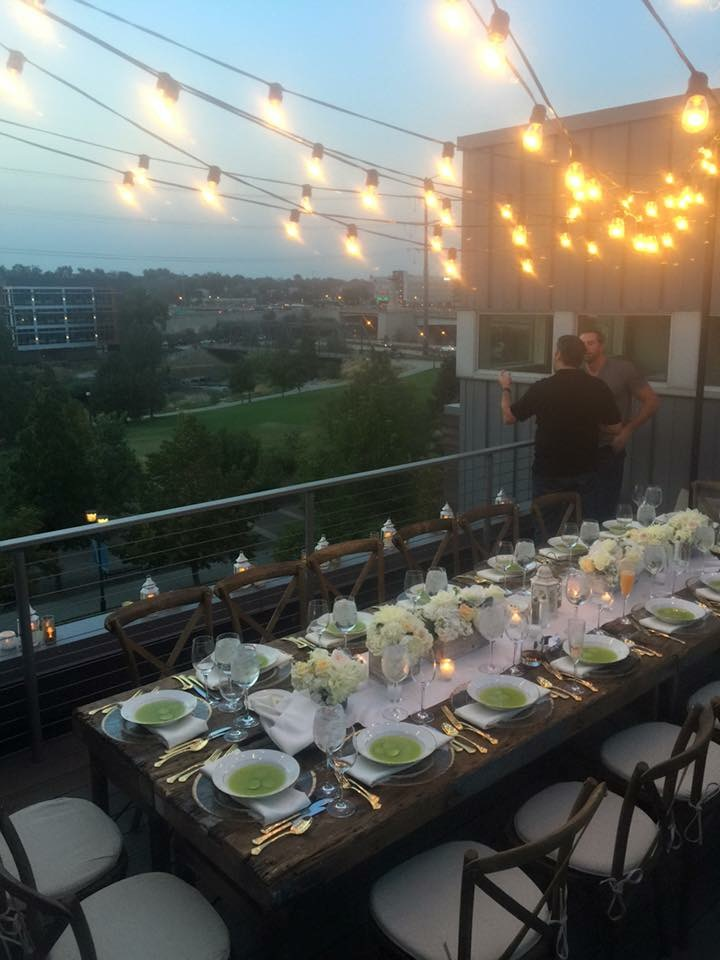 The set up and our view at sunset.  Our hostess thinks of every detail. We told her she should go into event planning. :)