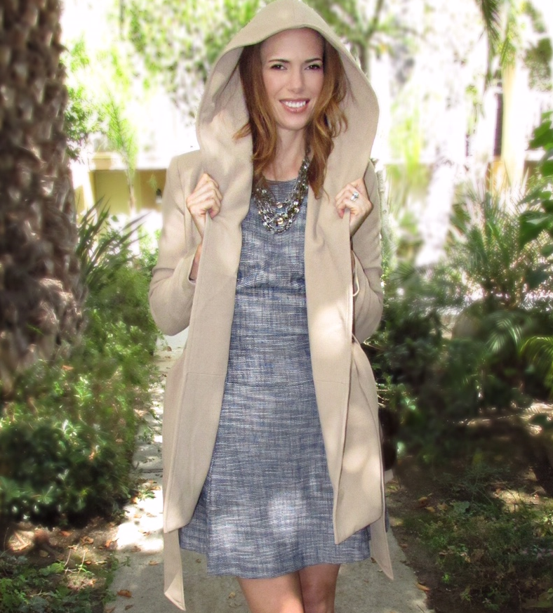 fall style hooded coat