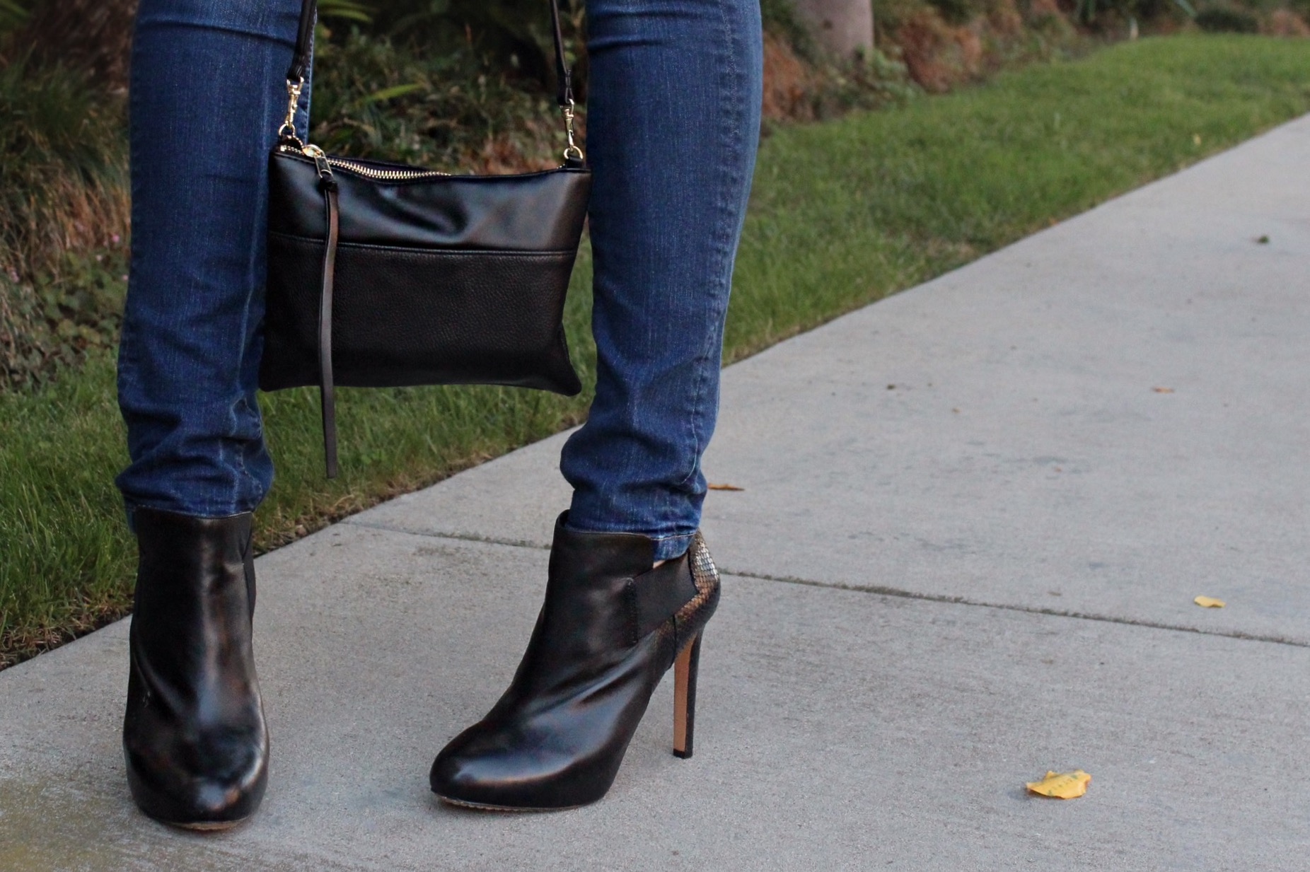 black booties fall style
