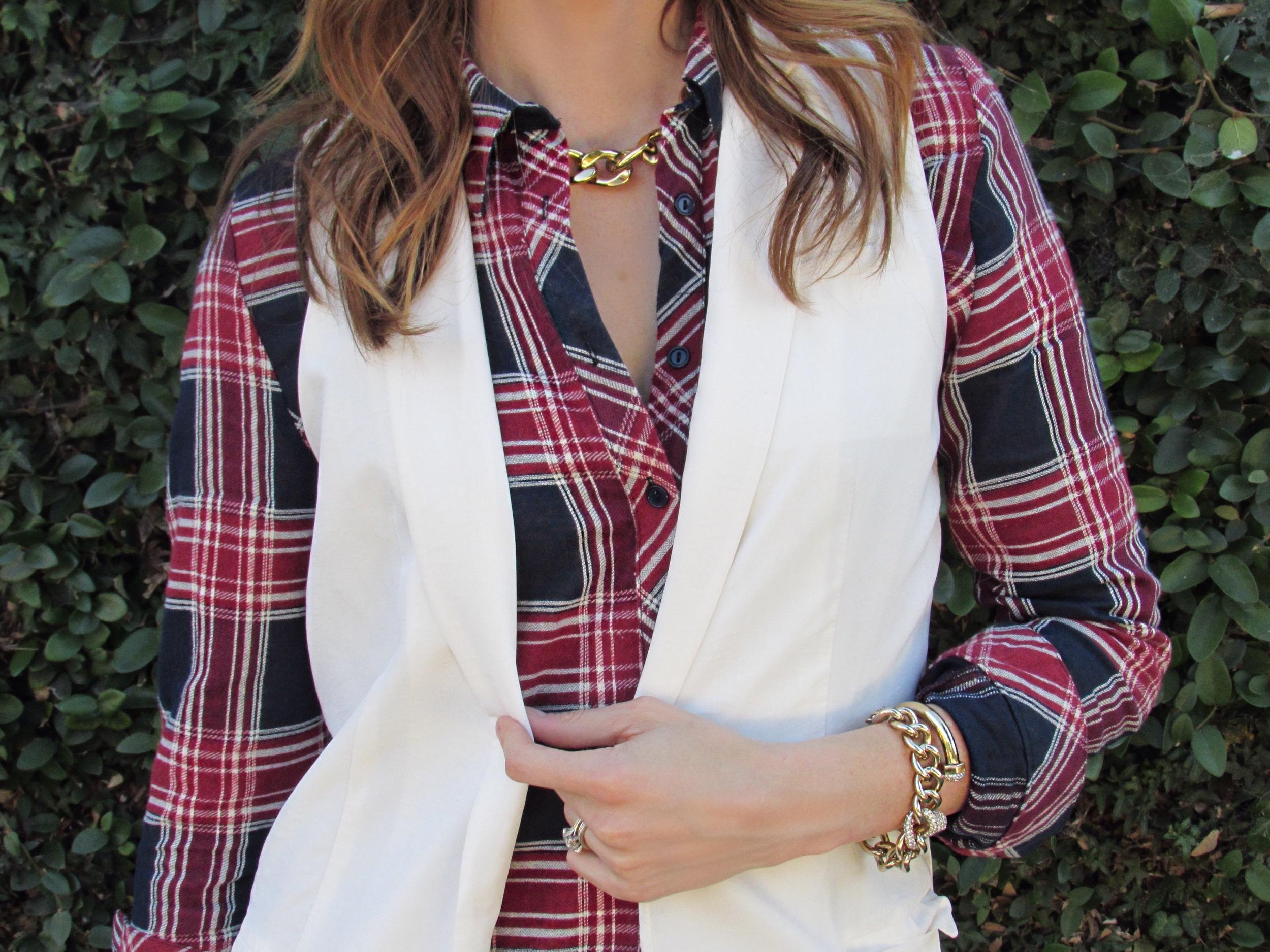 plaid flannel shirtdress