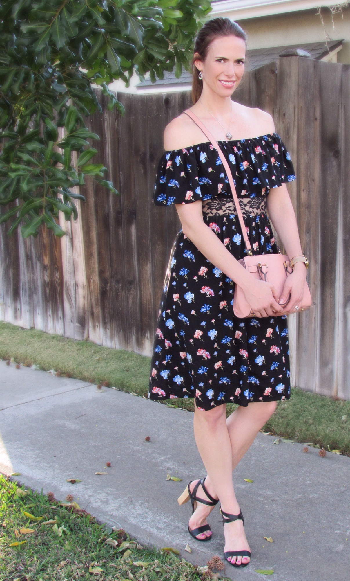Dress ,  bag ,  similar shoes ,  watch