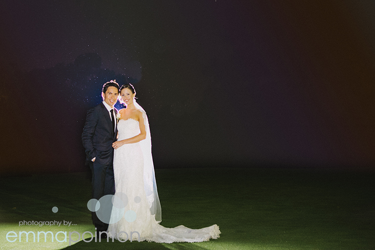 Beautiful perth wedding night shot
