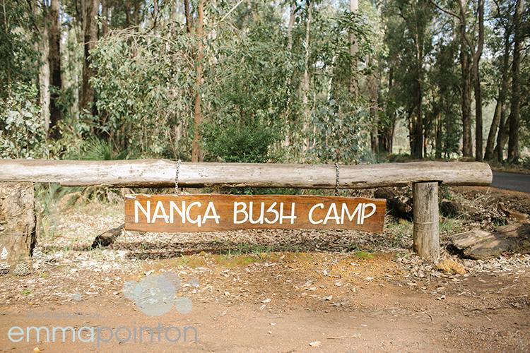 Nanga Bush Camp Sign