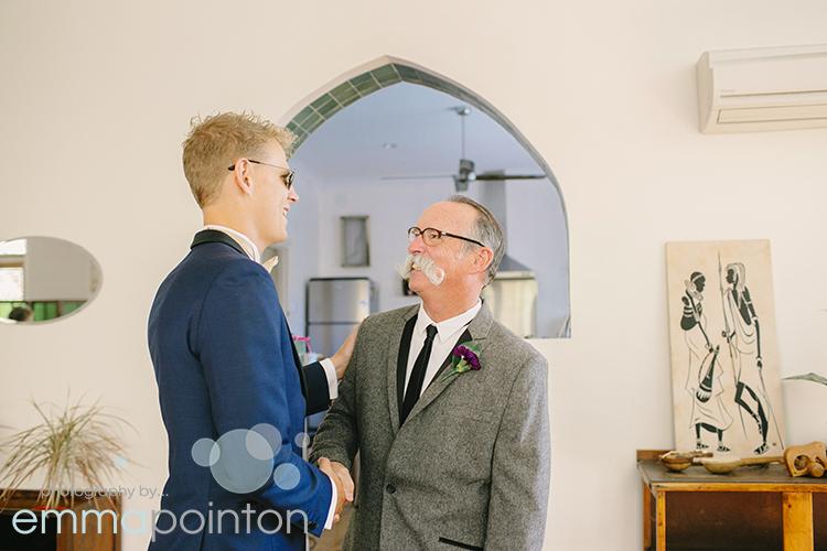 Groom and bride's dad