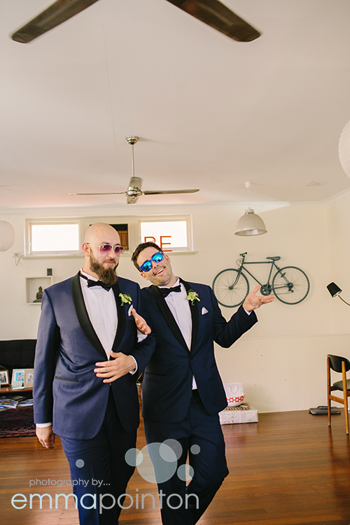 Groomsmen fun freo wedding