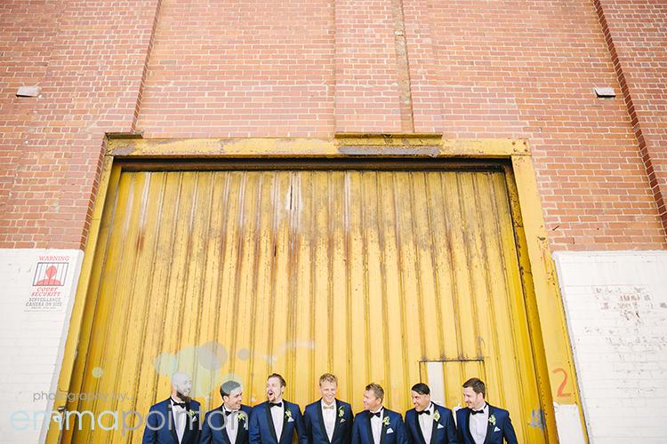 yellow wall Fremantle groomsmen