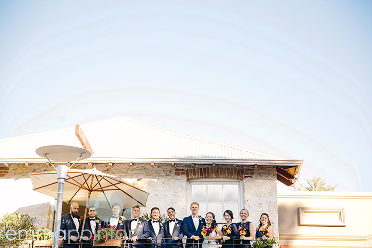 Bridal Party Photograph on Fremantle Balcony