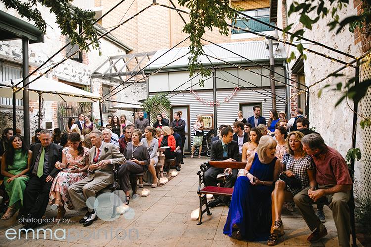 Moore & moore courtyard wedding