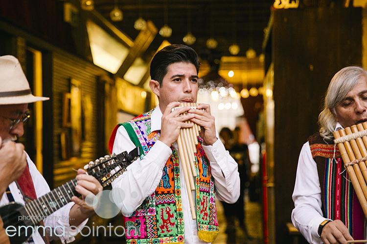 Peruvian wedding musicians