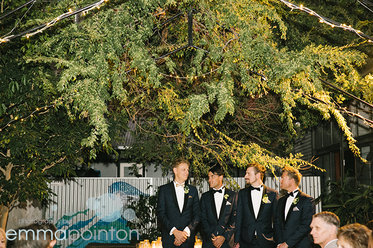 Groom awaits his bride Fremantle wedding photography