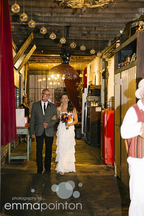 Dad escorts bride down the aisle fremantle wedding