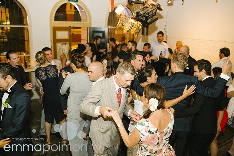 Dancing Moore & Moore Cafe Wedding