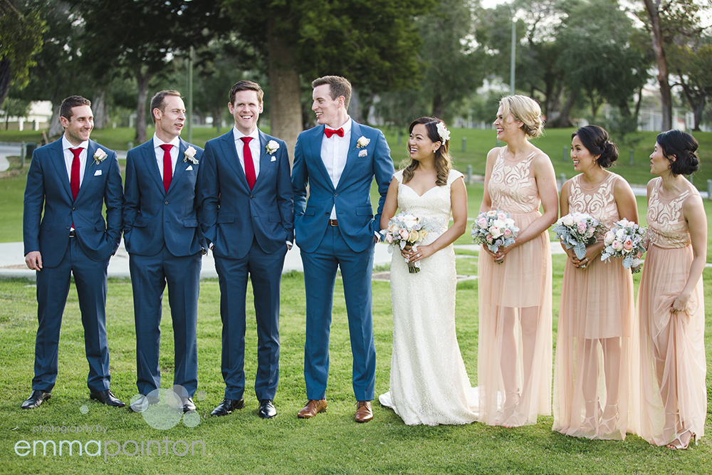 Bridal Party wedding photos Mosman Park