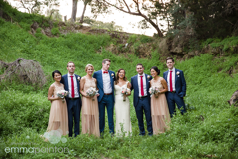 Bridal party photos Mosmans Restaurant
