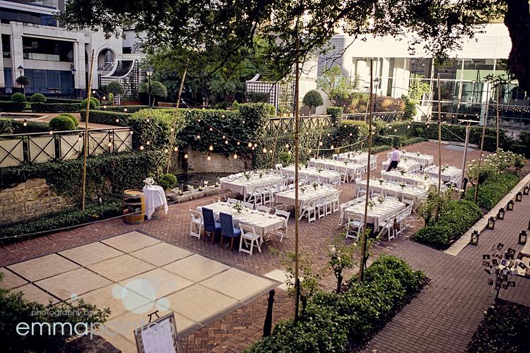 Lamont's Bishops House Rose Garden Wedding Reception