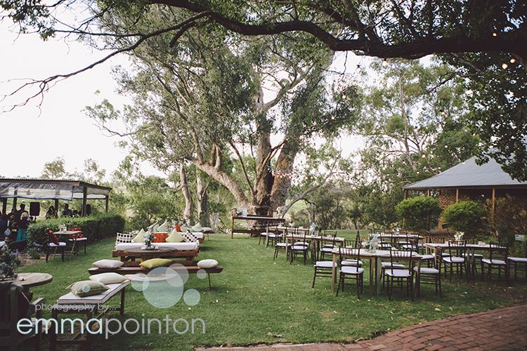 Cocktail Reception set up at Riverside Cafe