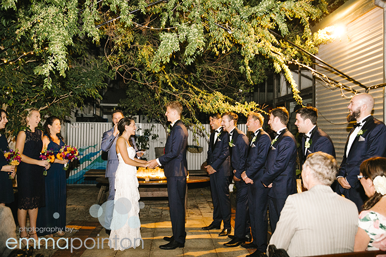 Ceremony at Moore & Moore Cafe, Fremantle