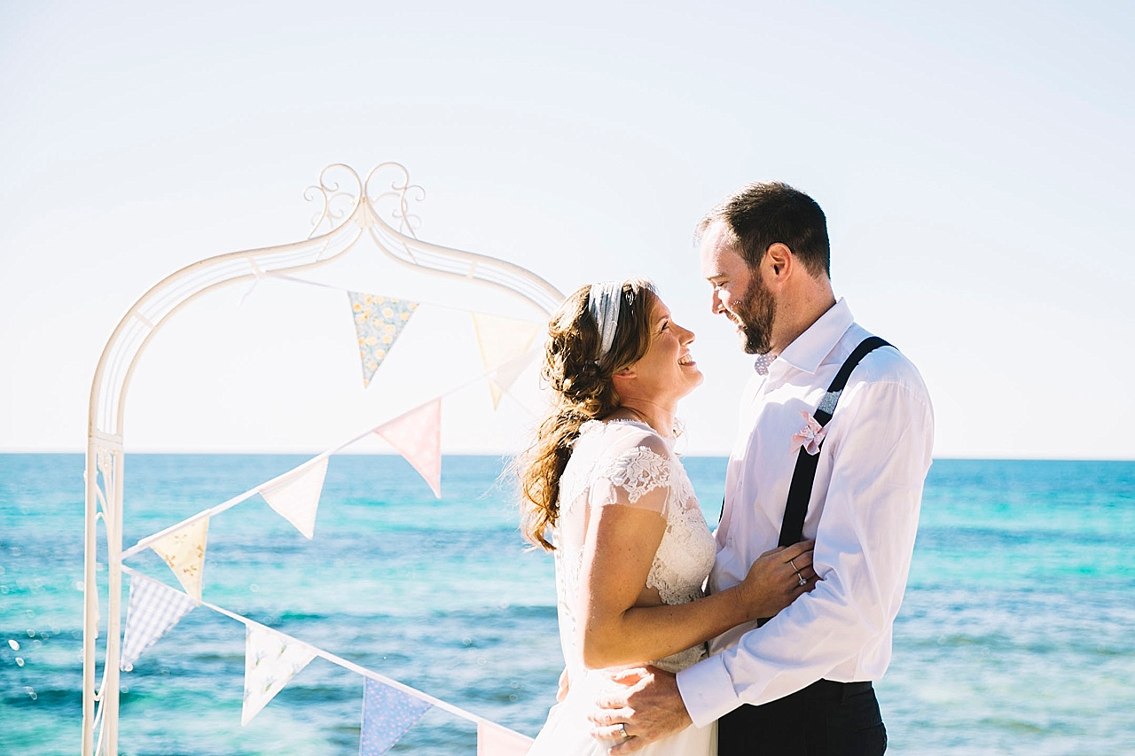The Basin Wedding on Rottnest Island