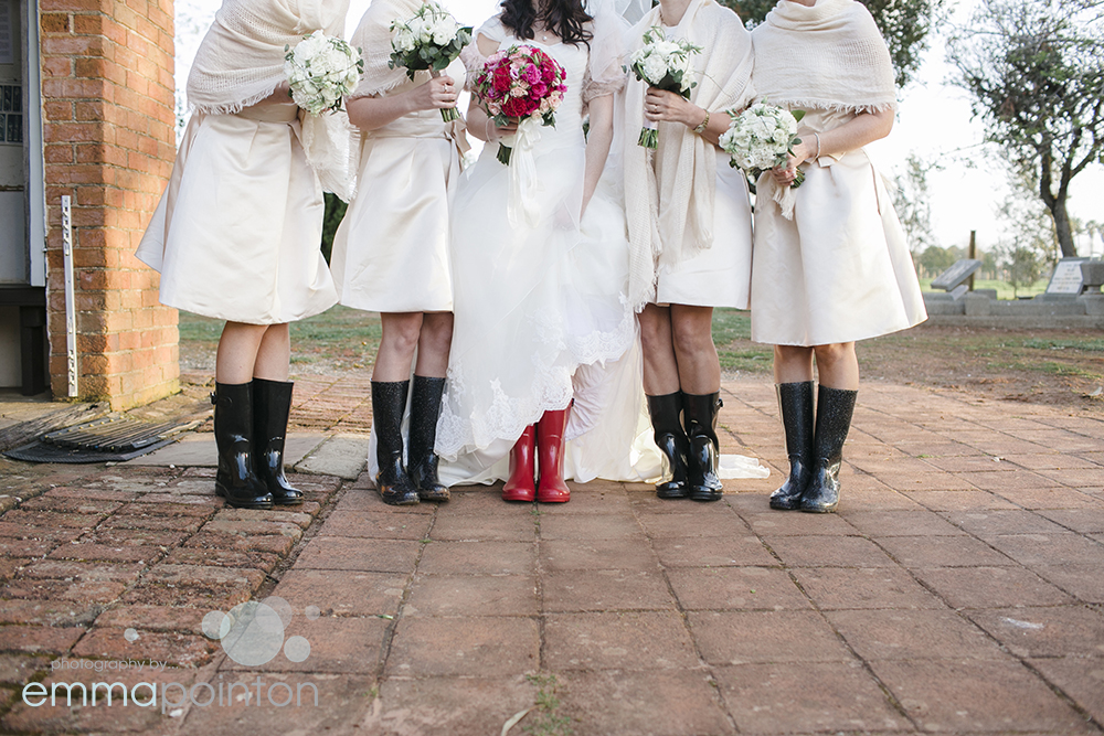 Gumboots and wedding dresses, perth wedding photography
