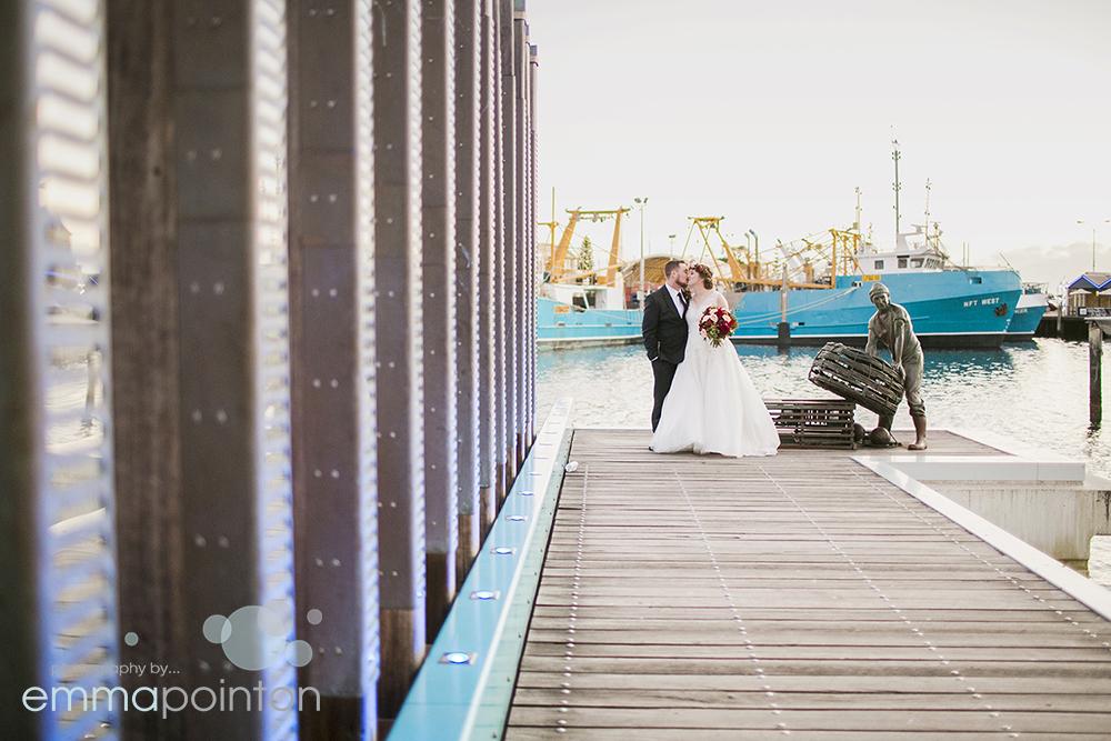 Fremantle wharf wedding photography