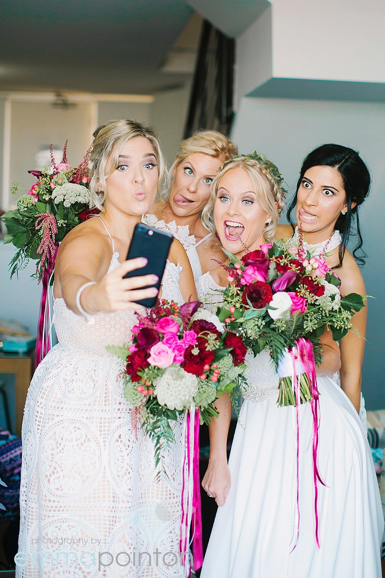 Fremantle bride selfie