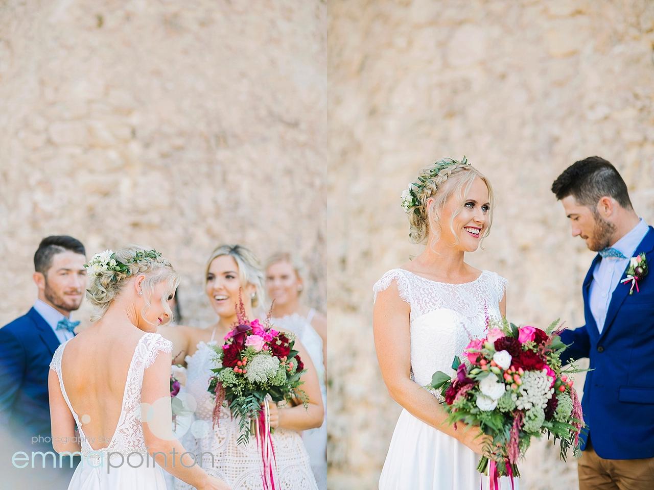 candid Fremantle wedding photos