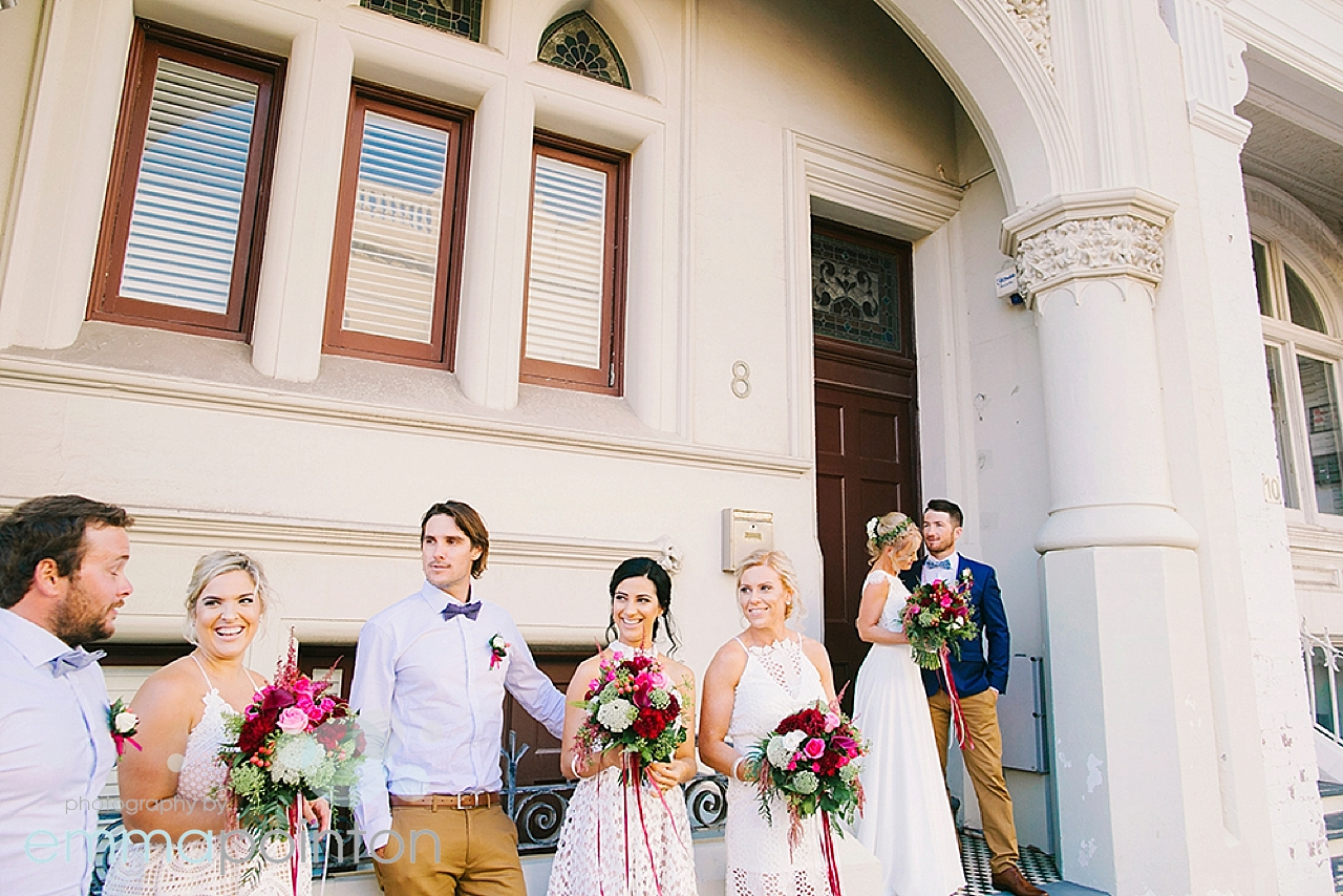High street wedding photos