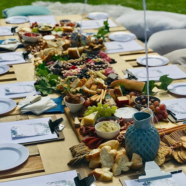 Our spread! We did good 😉 bring on the bride to be...we're ready and waiting. #hensday #gardenparty #grazingtables #foodie