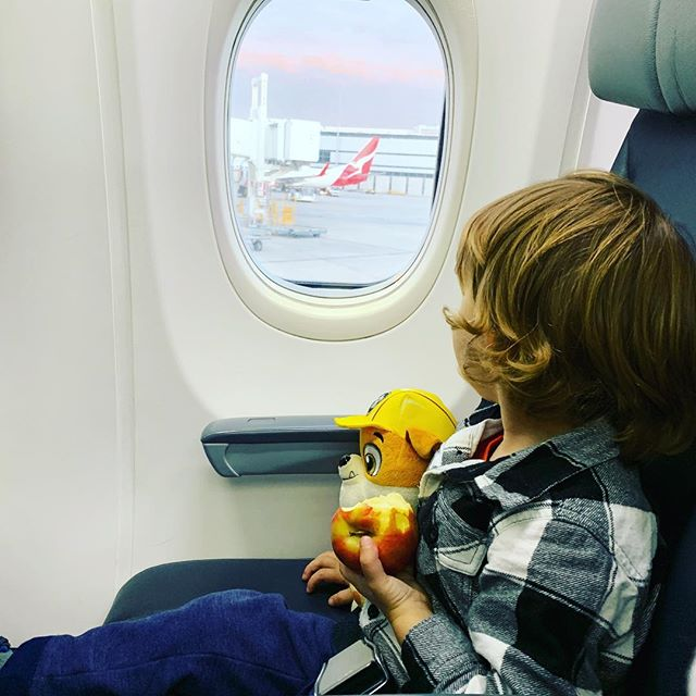 Take us away airplane...we're ready to fly! #toddleronboard