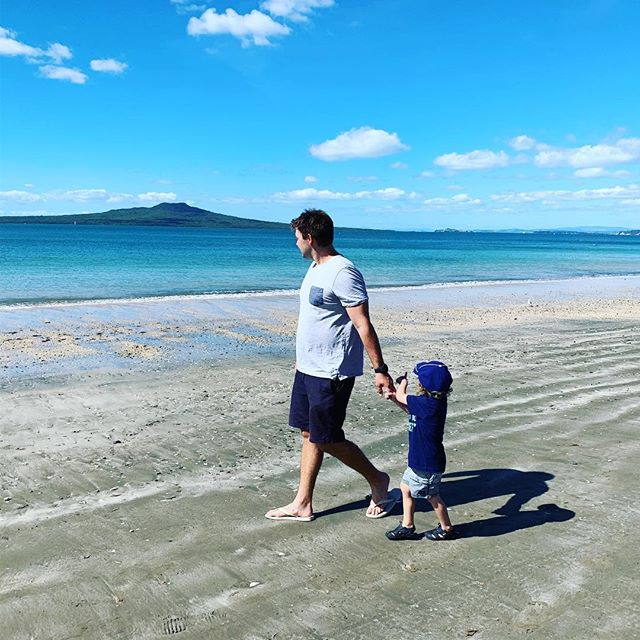 Family walks, New Zealand and Rangitoto island 🥰☀️#holiday . . . . . . #beach #walk #family #newzealand #rangitoto #sun #relax #escape