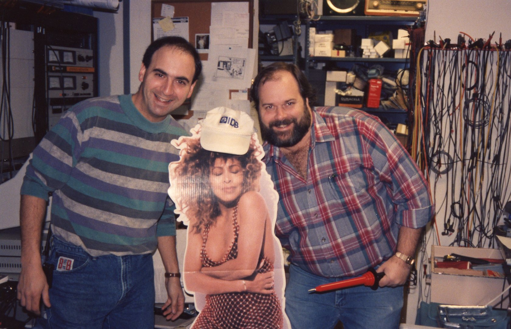 Tina Turner and WCXR engineers