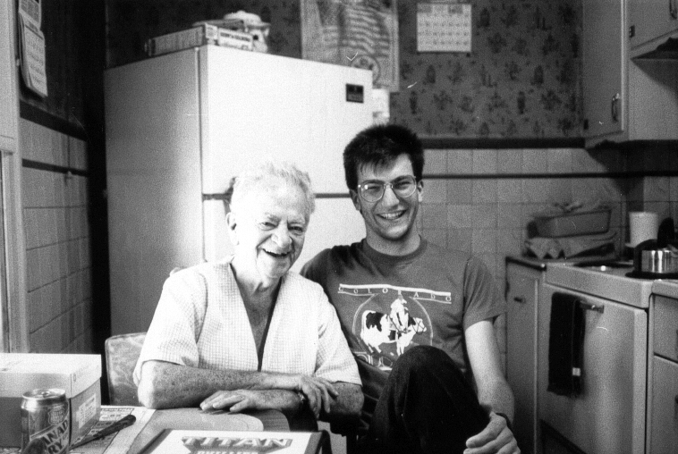 My brother Stephen and our grandfather shortly before his death in 1989.