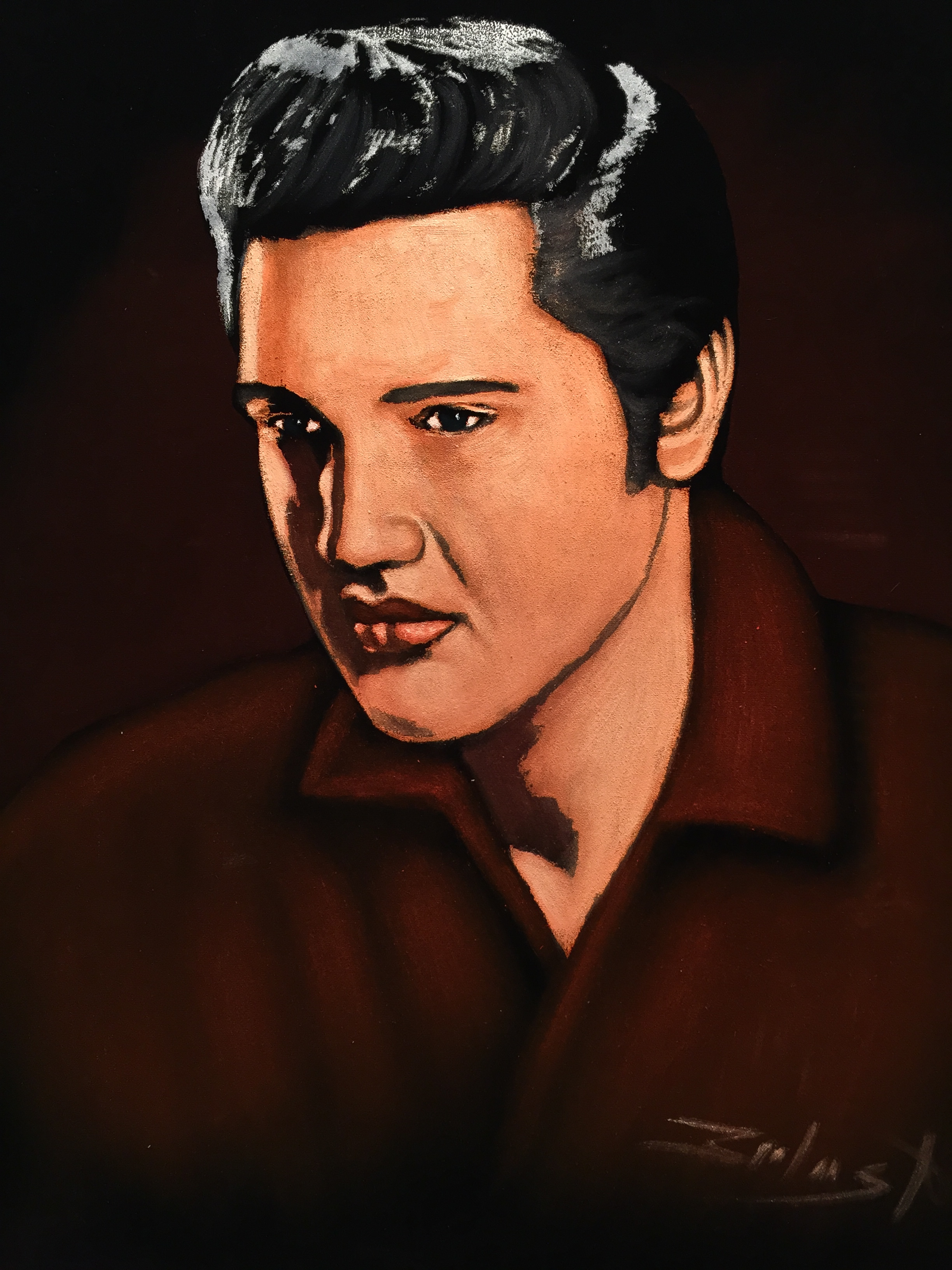 Red Shirt Velvet Elvis oil painting by Mago Zalas