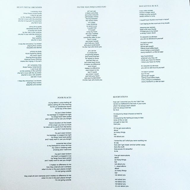 Listening to Yankee Foxtrot Hotel.  Check out the perfect use of left-flush, right-flush and centered text in the liner notes.  #smartdesign #Wilco #vinyl
