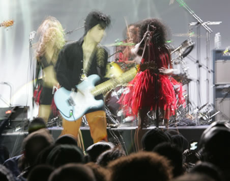 Guitar playing Prince backing Tamar at Philadelphia's Electric Factory.