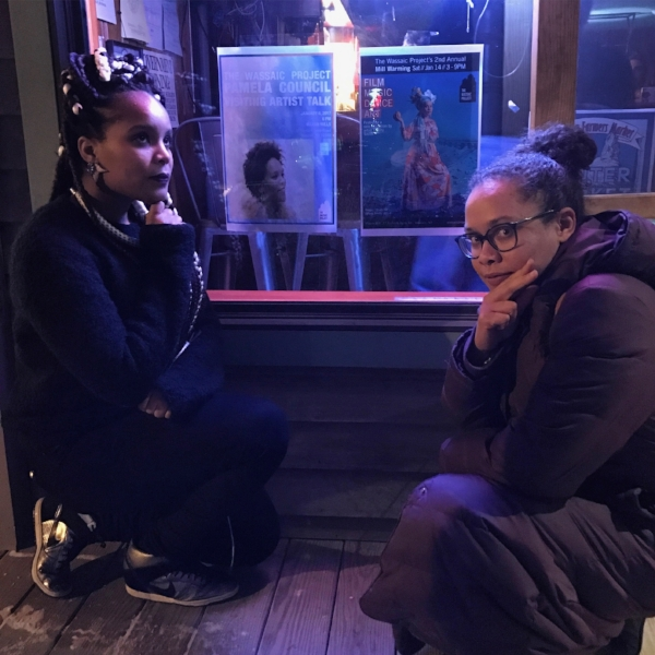 Pamela Council and Artist Tiffany Smith at the Lantern Inn, Wassaic, NY following Pamela's artist talk. Tiffany was in town installing her exhibition at Wassaic Project. Photo by Liz Zito.