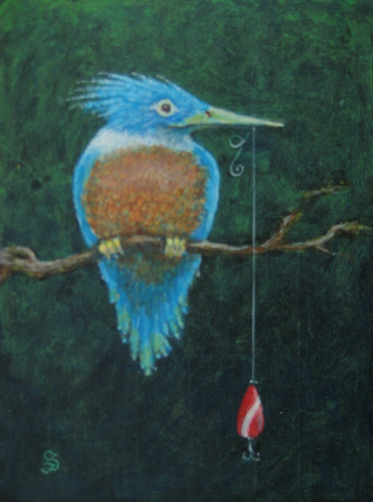 Kingfisher With Spoon Lure