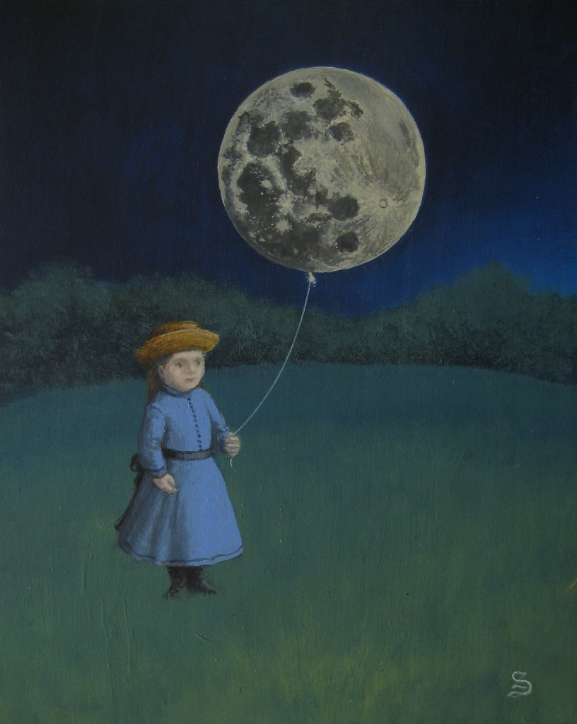 The Astronomer's Daughter Holding the Moon