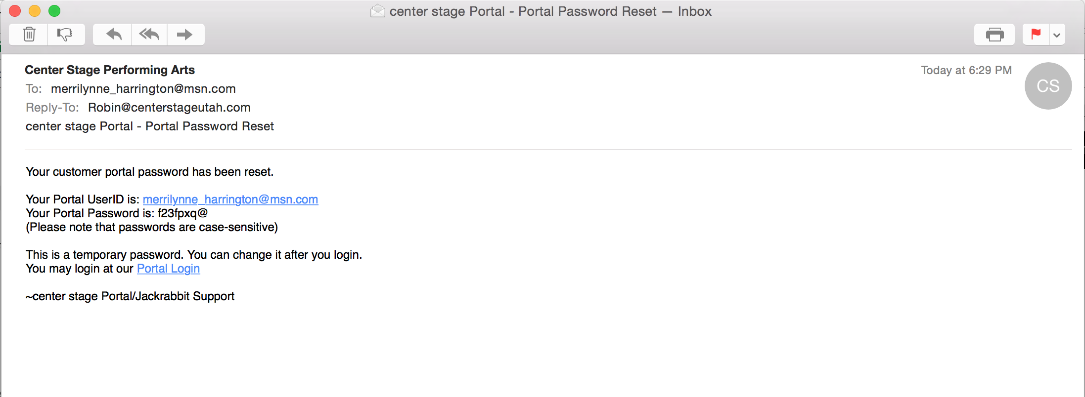 STEP 4. Check your email for a temporary password