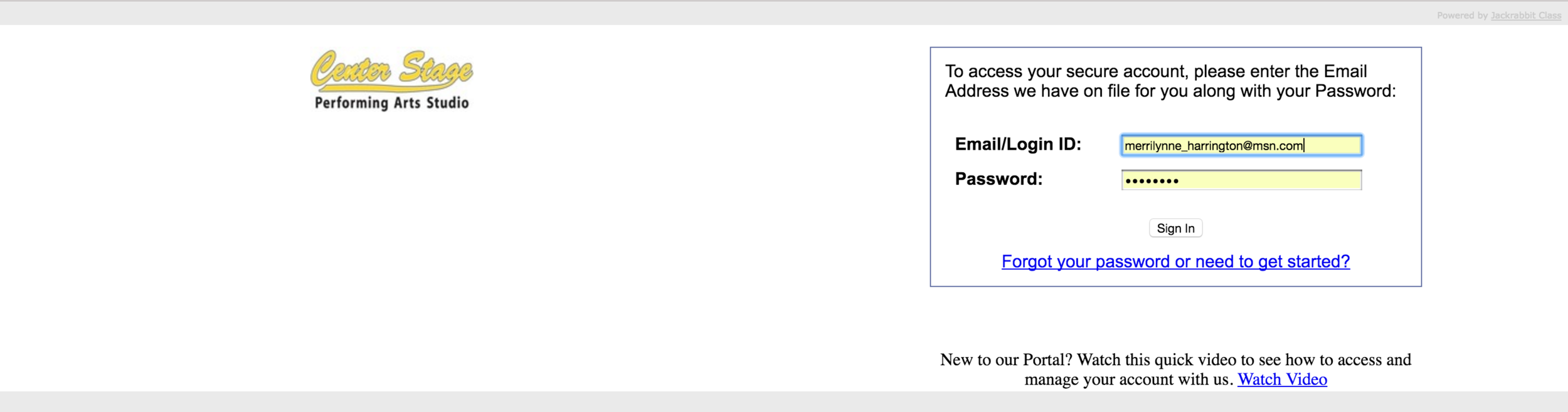 Step 5. return to the parent payment portal to enter your email address and password.