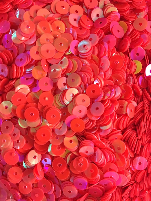 5mm Flat SequinsIridescent Hot Pink - Bulk Loose Sequins (1/4 & 1/2 Pound)
