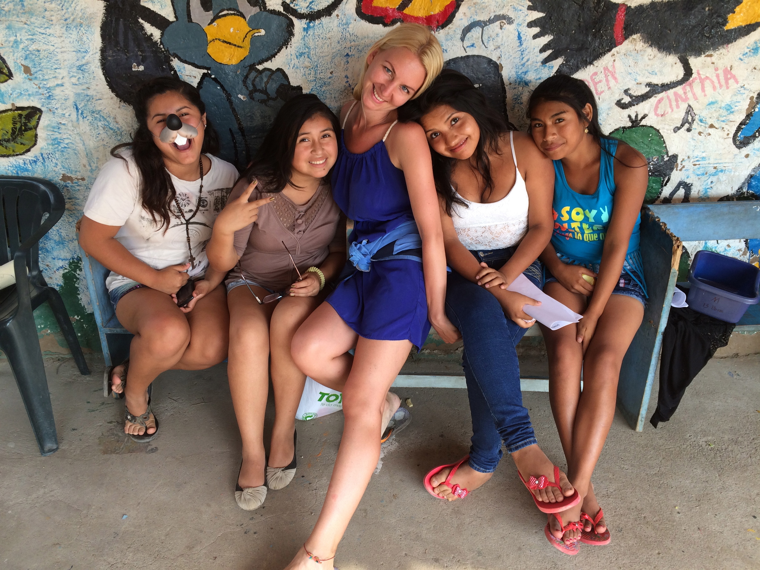 """Katarina with some secondary students from SKIP who were involved in the Social Skills class """"Club Clave"""""""