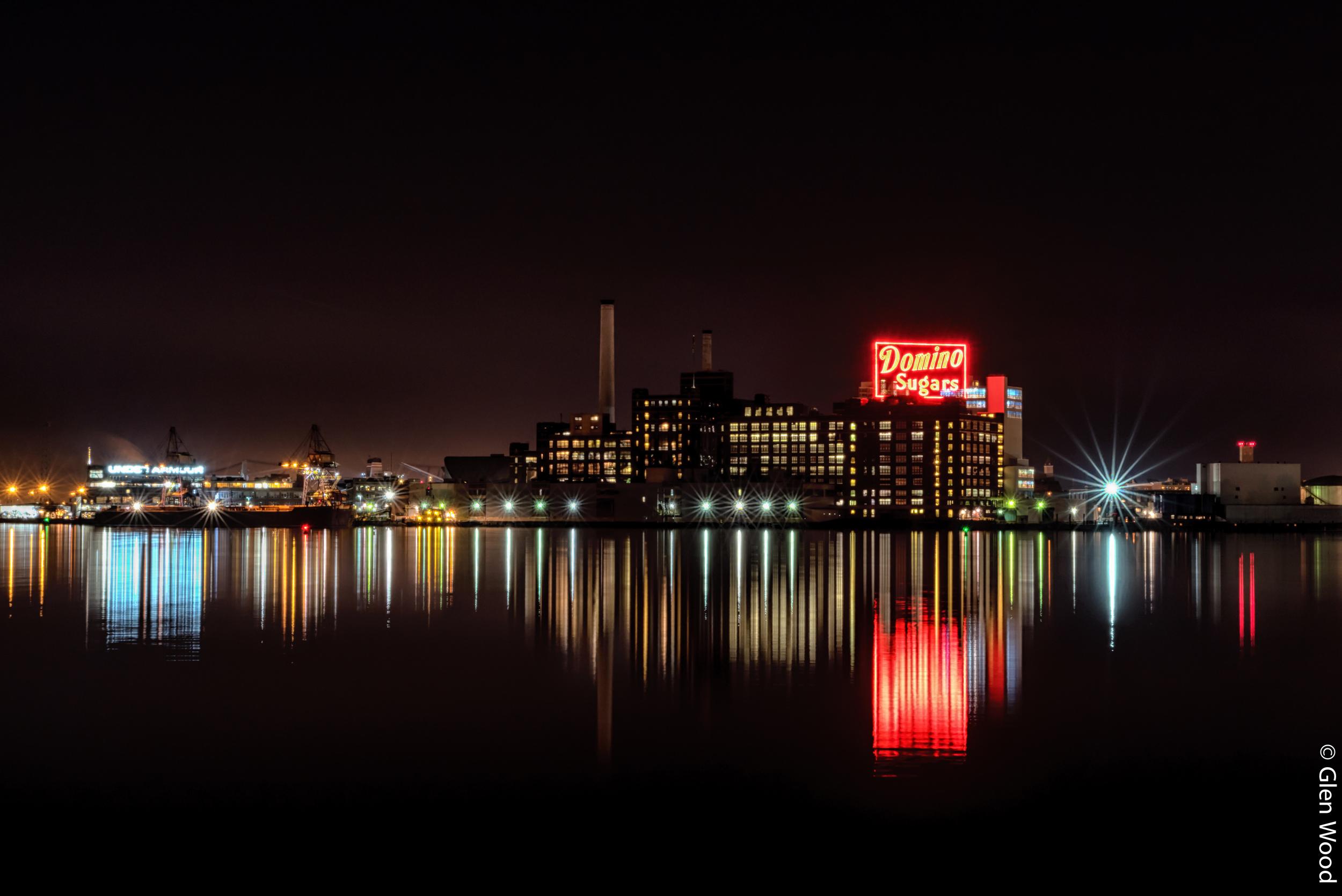 Baltimore Inner Harbor (Domion Sugar Sign)
